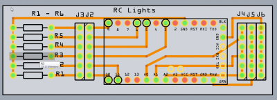 rc lights pcb